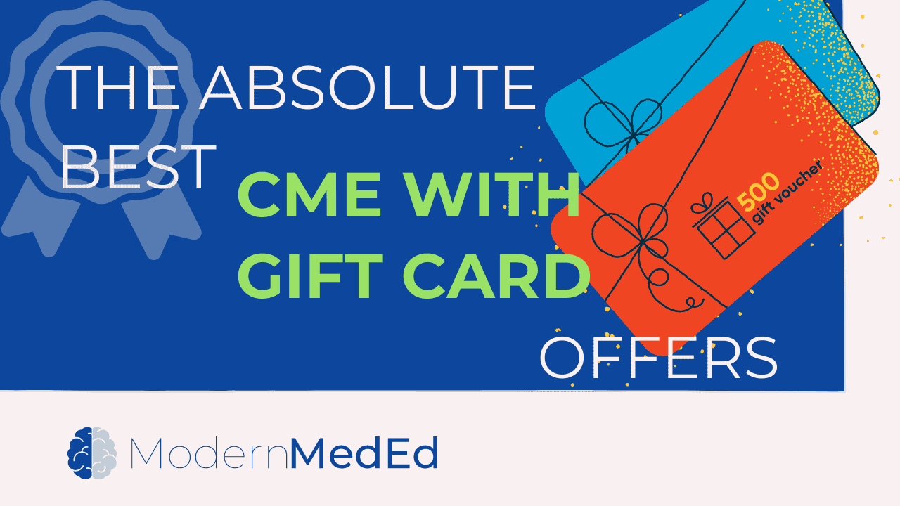 Best CME with gift card offers 2021 updated