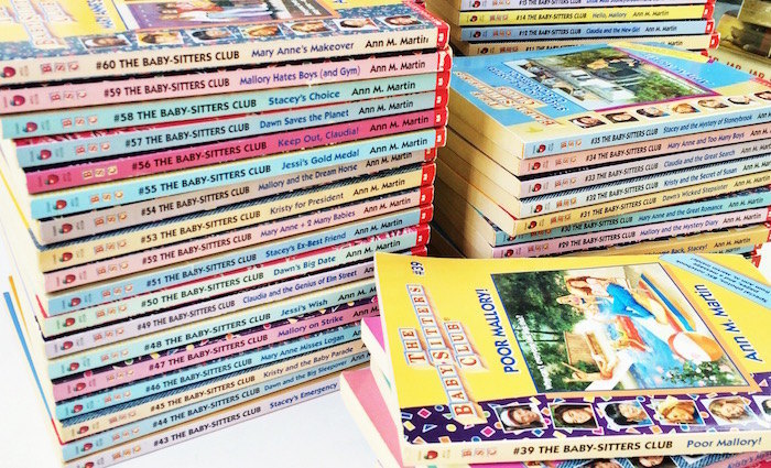 Image result for stacks of babysitter's club books