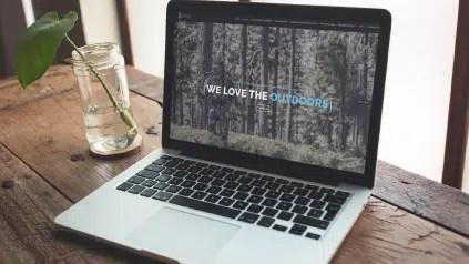 Outdoor Industry Marketing - Website Mock Up