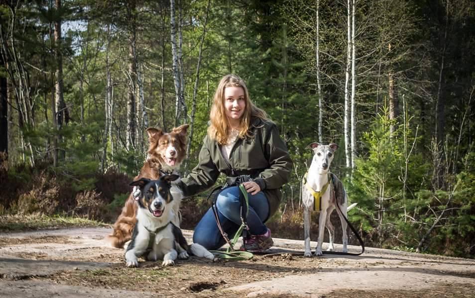 Eva- Lena og de tre hundene