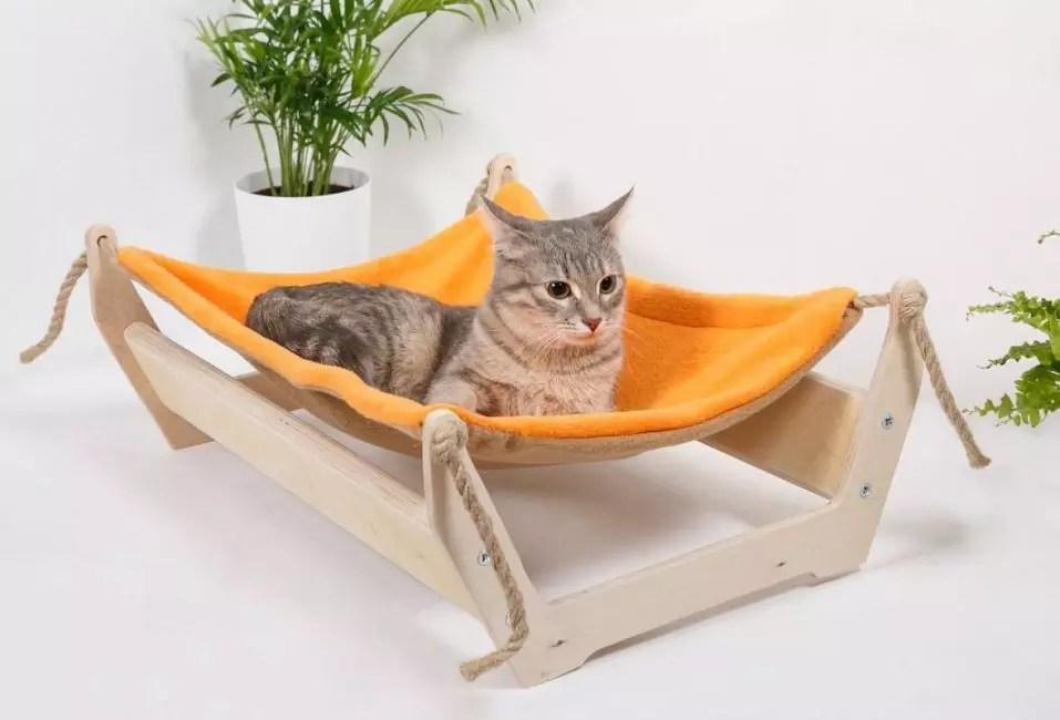 Kat hjemme-hængekøje