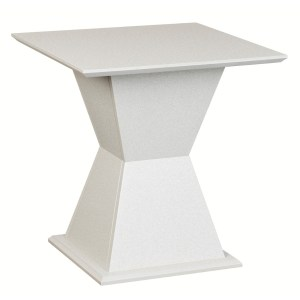 600 Square Tapered End Table Light Gray