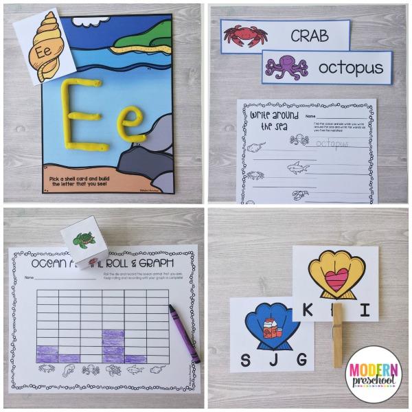 OCEAN Literacy Amp Math Centers Modern Preschool