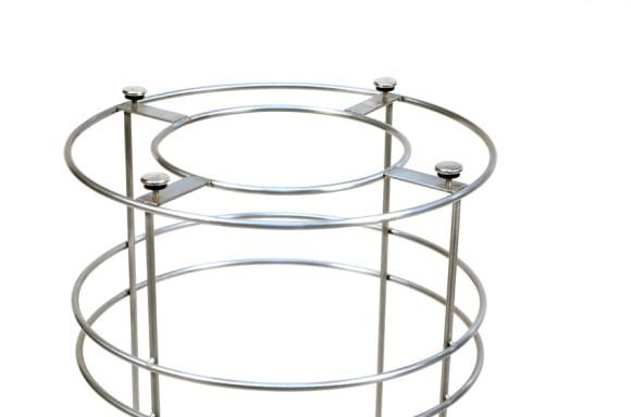Stainless Steel Trash Chameleon modern Trash Bin frame by DeepStream Design