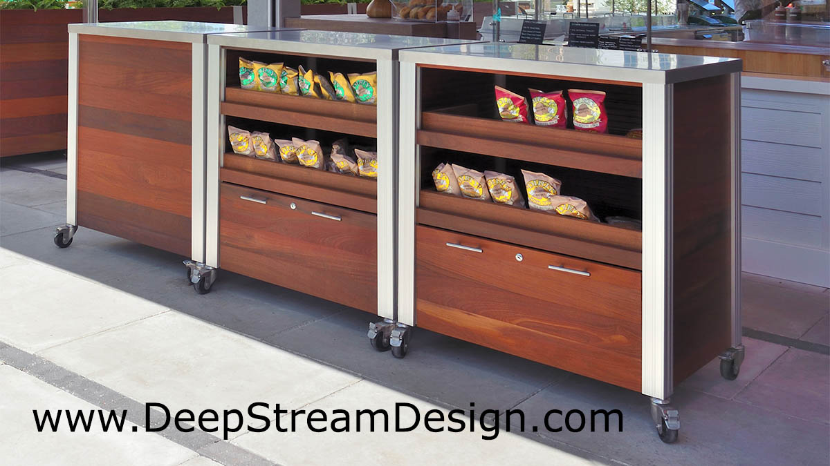 Accessory casters for mobility add functionality to heavy food service carts