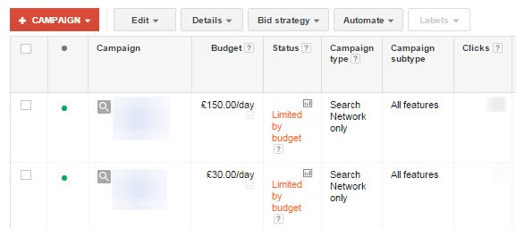 Google Ads: Manage your Budget Caps