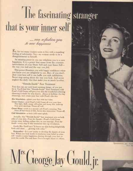 Ponds Cold Cream Advertisement; McCall's, 1950