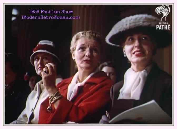 Screenshot from Manor House Fashion Show, Pathe' Films, 1956.