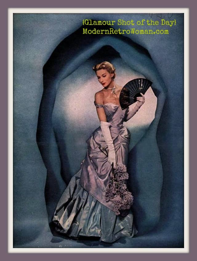 Modess advertisement, 1949; Source image courtesy of MJ Basala on Pinterest.
