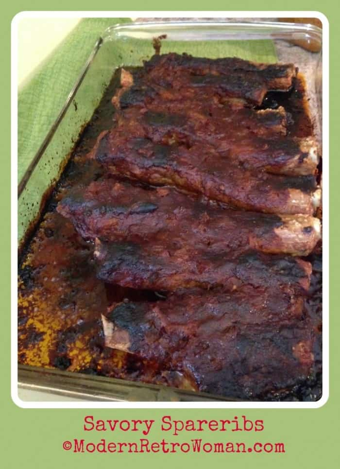 Photo of savory spareribs ModernRetroWoman.com