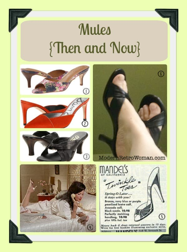 a97b83e1755 Mules {Then and Now} - Modern Retro Woman