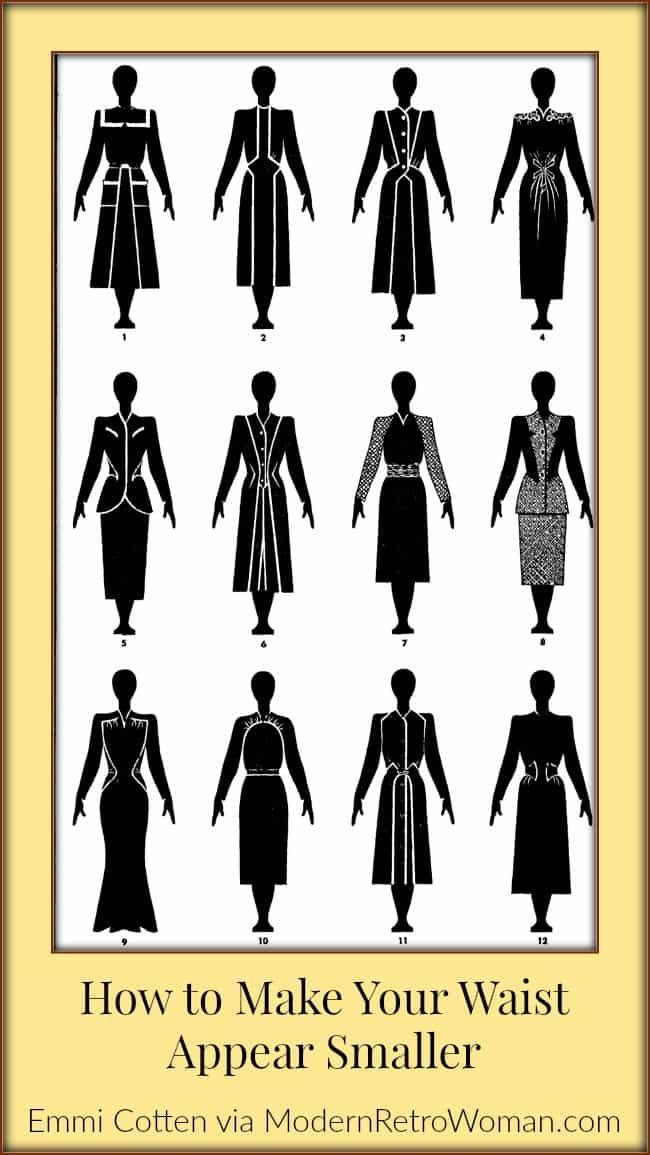 How to Make Your Waist Appear Smaller -Clothes Make Magic Figure 4-ModernRetroWoman.com