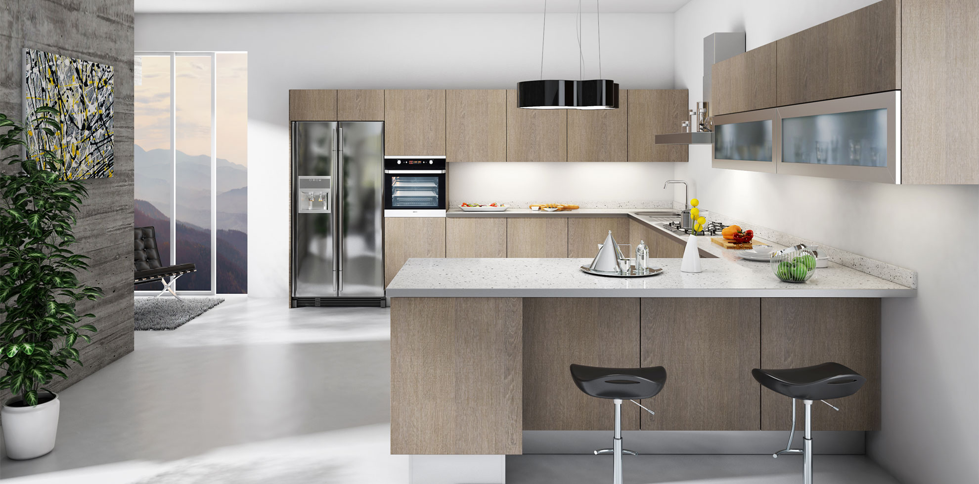 - Modern RTA Cabinets on Modern Kitchens  id=81478