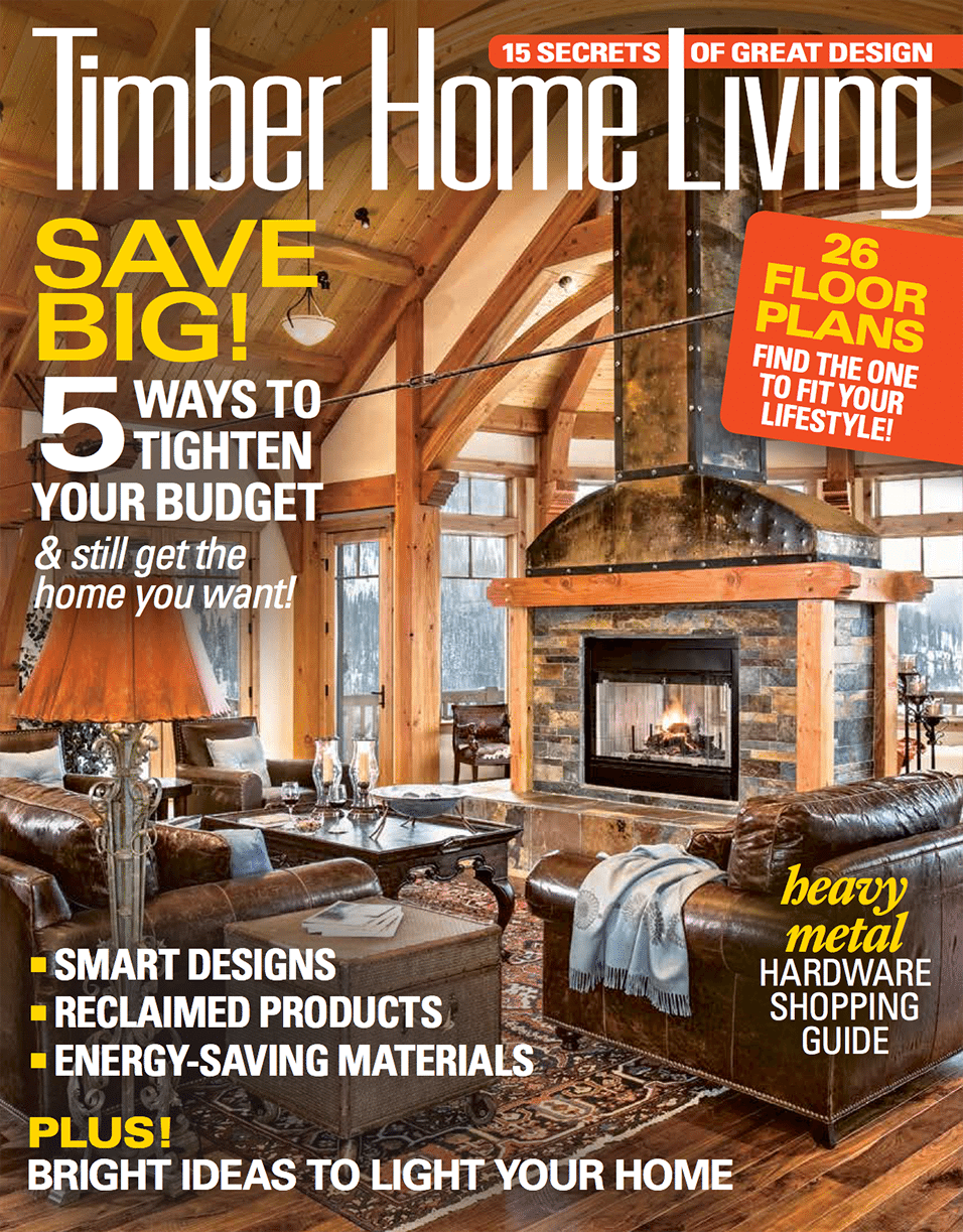 Dragonfly Lodge is featured in the October 2016 issue of Timber Living magazine.