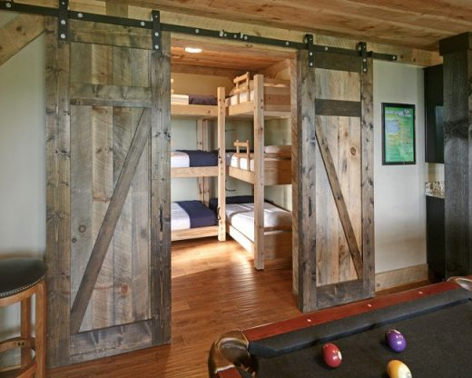 triple-stacked bunk beds