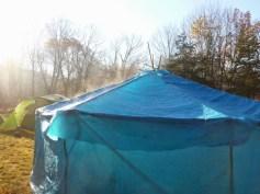 Finished yurt (sleeps about 8)