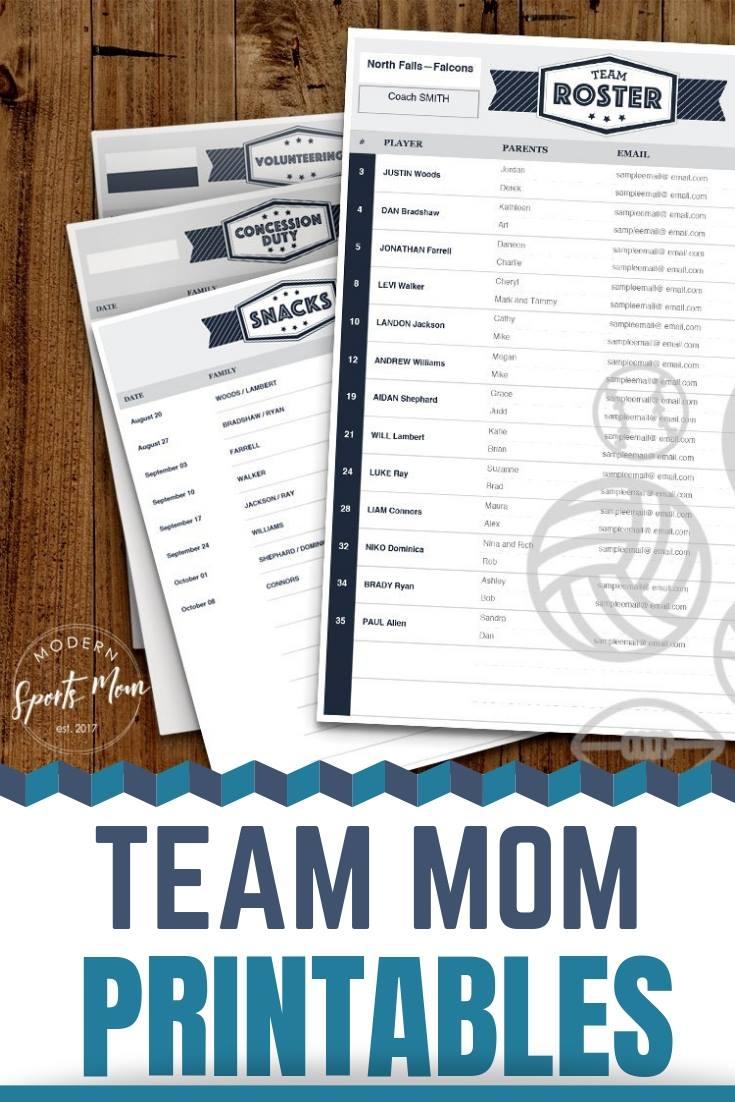 Team Mom Printables #teammom #freeprintables