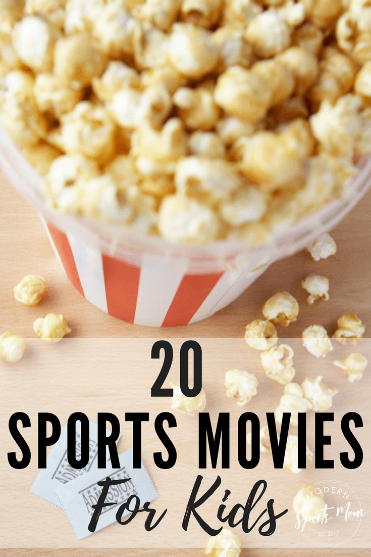 As a sports loving family, one of our favorite things to do is huddle around the t.v. and watch a funny or inspirational sports movie.  If you're looking for something to do with the kids, tune in to any one of these flicks!