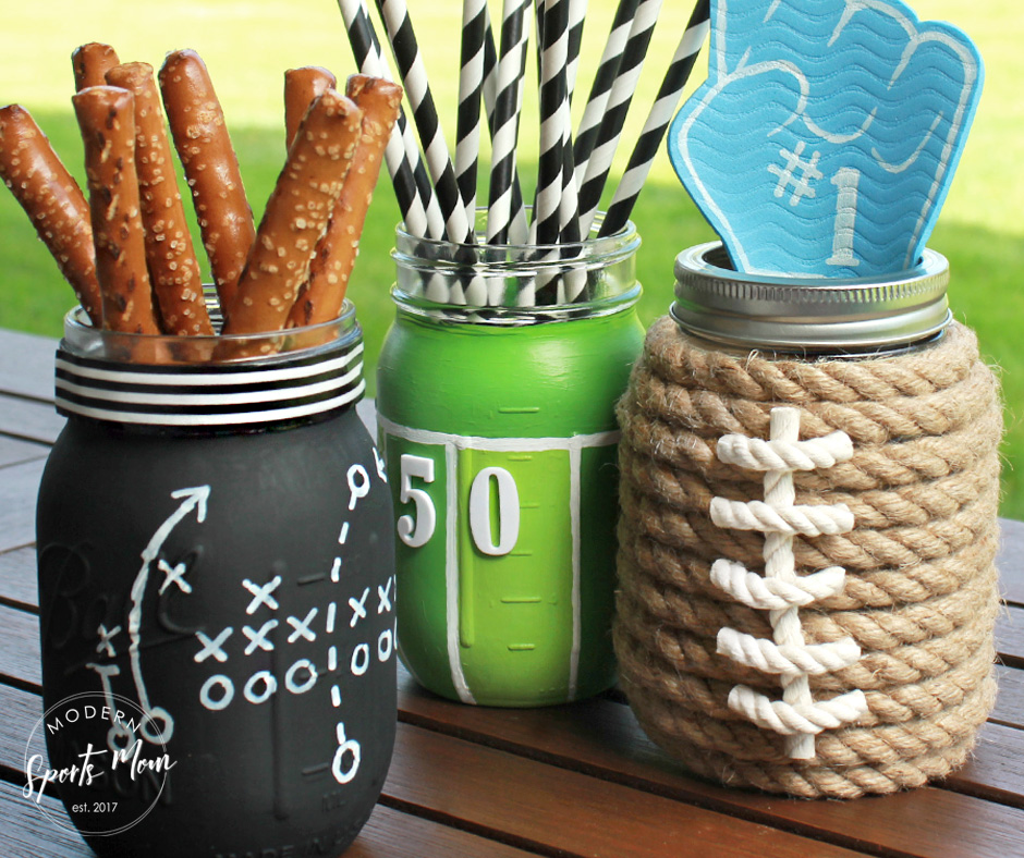 DIY Football Mason Jars