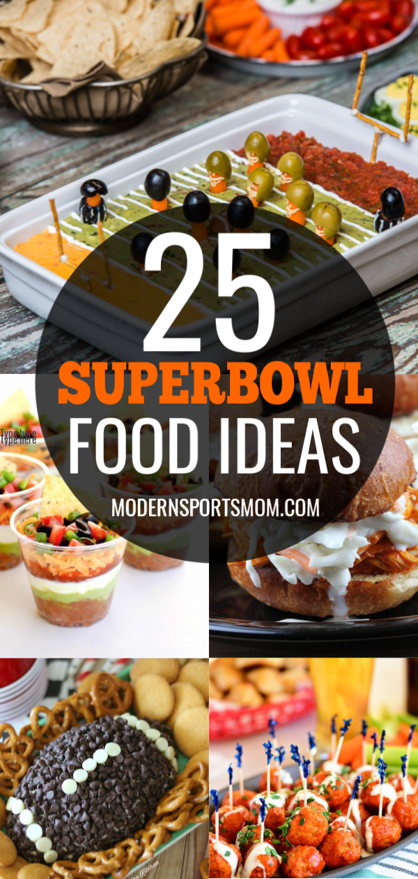 Football season is winding down, and that can only mean one thing-- it's almost time for the Superbowl! This list of 25 delicious Superbowl Game Day Food Ideas is sure to be a crowd pleaser! #superbowl #gameday #partyfood #appetizers #feedingacrowd #biggame