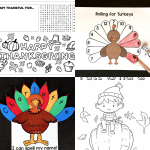 Free Thanksgiving Printables for Children