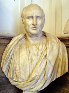 Cicero (Bust in Capitoline Museum) looking rather stony faced.