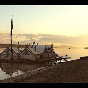 "Life at a ""Off Grid,"" Log Raft -Fish Camp  (Yukon River Alaska)"