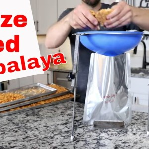 Freeze Dried Jambalaya 🍤🍤 Using the NEW! Food Funnel Mylar Bag Holder😮