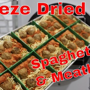 Freeze Dried Spaghetti & Meatballs -- Perfect Portions Using the Tray Dividers