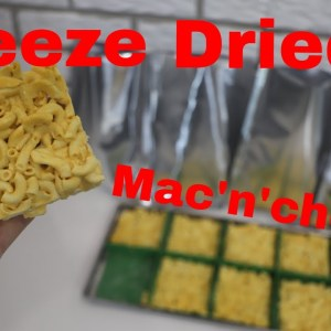 Freeze Dried Macaroni and Cheese // 1 Serving Portions w/ recipe