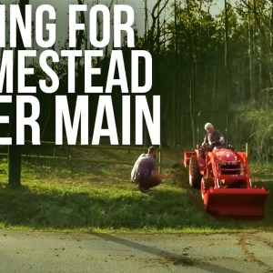 Grading for a Water Main | Forest to Farm