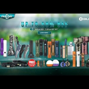 Olight OFan Day up to 50% Off Sale Sept 23-27 EDT