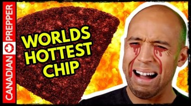 Prepper Almost Dies Doing One Chip Challenge