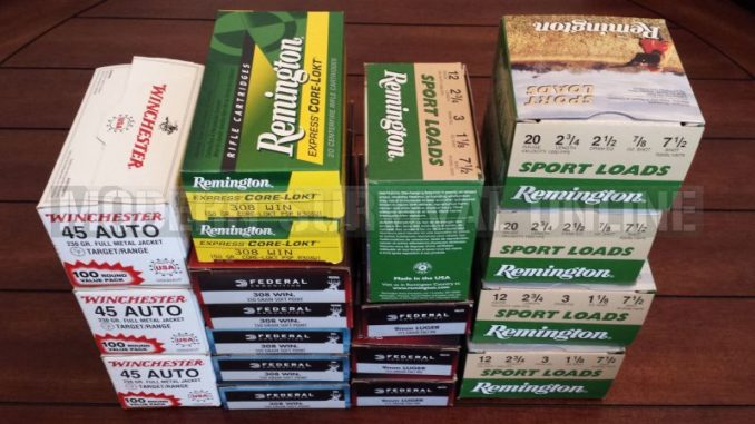 boxes of ammo
