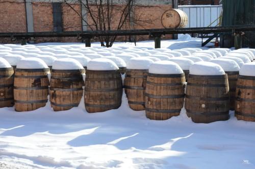Buffalo Trace Snow Barrels Photo by Ben Durant
