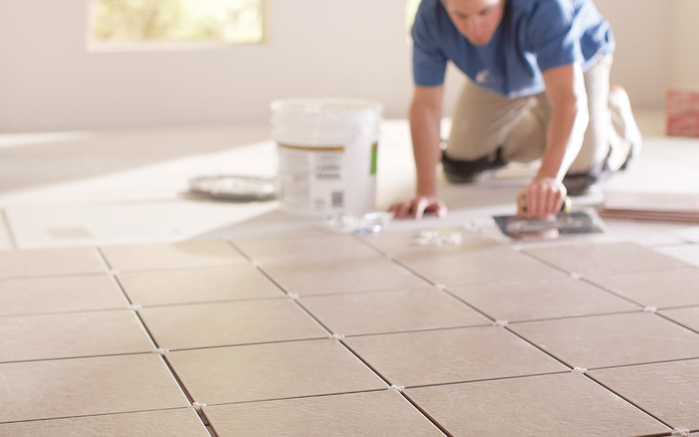 tiling from the bottom up or top down