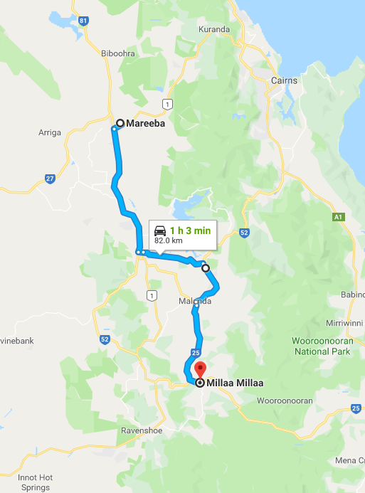 Yungaburra and Millaa Millaa Road Trip