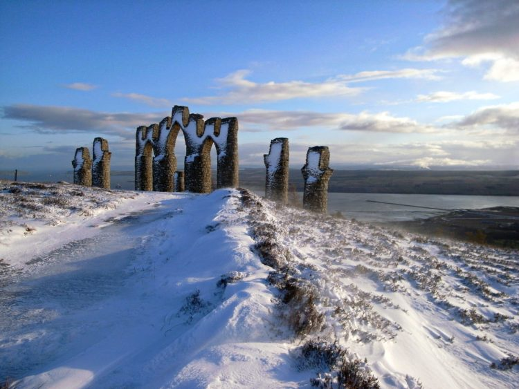 A Fyrish monument, overlooking the Cromarty Firth