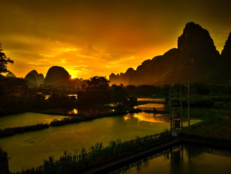 he View From Our Hotel Room in Yangshuo