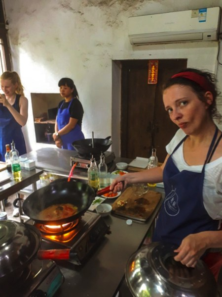Cooking in Guilin, China
