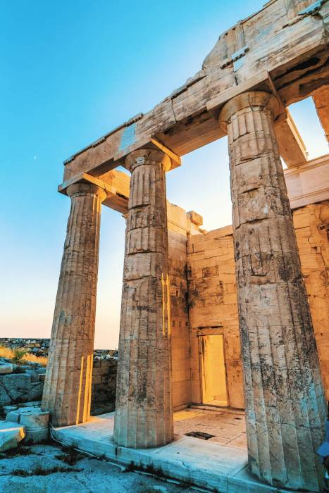 The Parthenon in Athens is a must-see while spending 3 days in Athens.