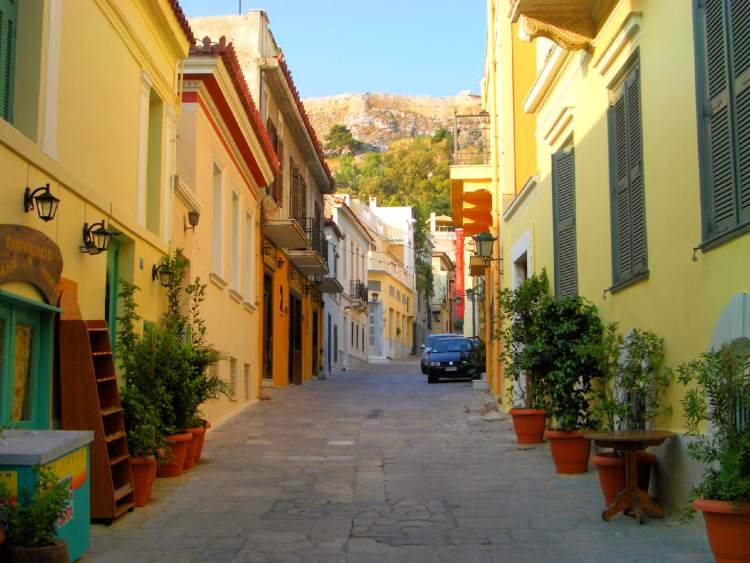 The Plaka District in Athens.