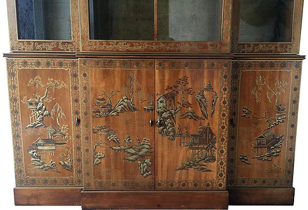 Drexel Heritage China Cabinet Modern Vintage Mix