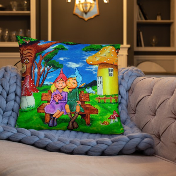 Elves in magical forest Cushion (2)