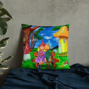 Elves in magical forest Cushion (4)