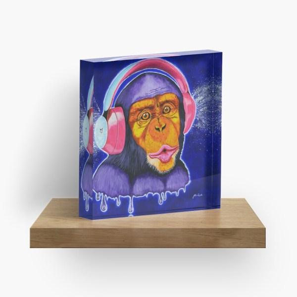 Funky Monkey_ Acrylic Block by mikeylee (3)