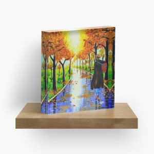Guitarist in the woods_ Acrylic Block by mikeylee (3)