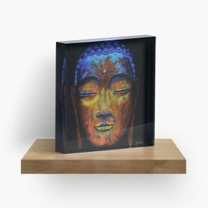 Zenful Buddha_ Acrylic Block by mikeylee (3)