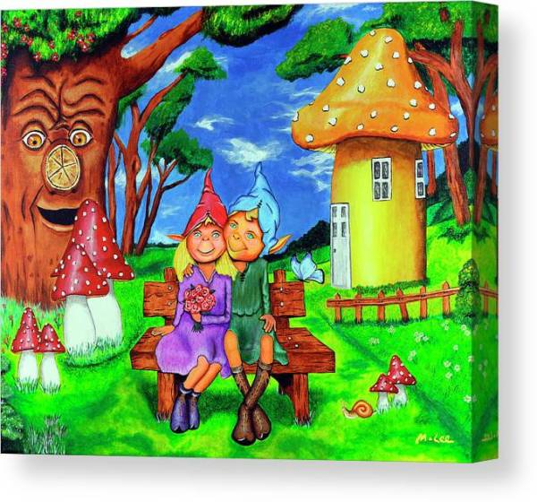 elves-in-magical-forest-mikey-lee-canvas-print