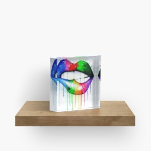 Bite Me Lips_ Acrylic Block by mikeylee (1)